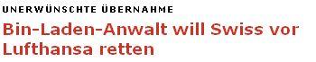 Schweizer Anwalt will Swiss vor Lufthansa retten